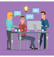 Teamwork office idea Business People Meeting vector image