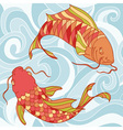 fish card vector image