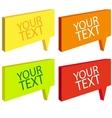 Speech bubbles colorful set vector image