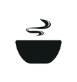 Soup simple black icon on white background vector image