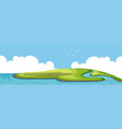 a beautiful nature island vector image vector image