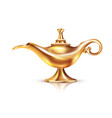 aladdin lamp isolated composition vector image