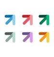 arrow icon abstract logo template vector image