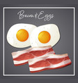 bacon and eggs breakfast vector image