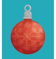 ball merry christmas design isolated vector image