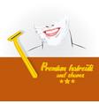 barbershop logo design vector image vector image