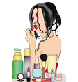 Beauty and makeup vector image