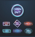 big set of neon sign plates vector image