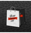 Black Friday black and white shopping bags vector image