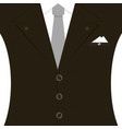 black man suit with tie and white vector image vector image