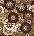 Brown floral bakground vector image