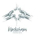 business concept broken chain blockchain vector image
