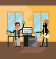 business meeting european man with investor vector image vector image
