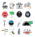 car parts and icons vector image vector image