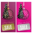 Christmas card set sale background with vector image vector image