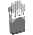 cigarettes pack in flat style vector image vector image