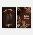 coffee flyers coffee time background vector image vector image