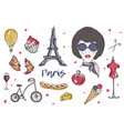 collection of paris and france elements vector image
