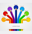 color pencils semicircle template isolated on vector image vector image
