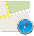 compass and part of map illustraton vector image