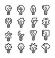 creative light bulb line icon set vector image vector image