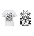 deer hunting t-shirt print mockup hunt trophy club vector image vector image