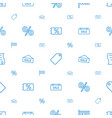 discount icons pattern seamless white background vector image vector image