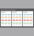 english calendar 2019-2020-2021 template vector image