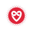 everlasting love concept love heart icon isolated vector image