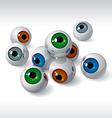 eyeballs vector image vector image