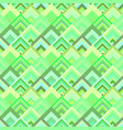 green abstract diagonal square mosaic tile vector image vector image
