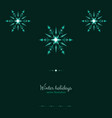green shine holidays ice frost snowflakes banner vector image