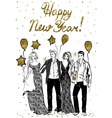 happy celebrating people vector image vector image
