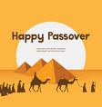 happy passover in hebrew jewish holiday card vector image vector image