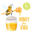 honey for kids vector image vector image