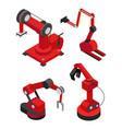 industrial robots set for efficient production vector image