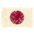 Japanese grunge flag vector image vector image