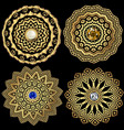 jewelry round greek mandala patterns set floral vector image