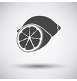 Lemon icon on gray background vector image vector image