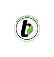 letter b with leaf logo green leaf logo icon vector image vector image