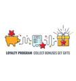 loyalty program banner vector image vector image