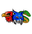lynx wildcat eagle snake logo mascot vector image vector image
