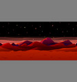 martian landscape background vector image vector image