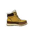 men colorful winter boots on white background vector image vector image