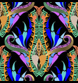 modern colorful floral paisley seamless pattern vector image vector image