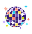 night club disco ball with sparkling lights party vector image vector image