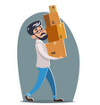 office relocation box cargo freight loading vector image