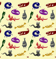 pattern with monsters vector image