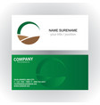 round green ecology organic logo business card vector image vector image