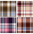 Seamless Checkered Plaid Pattern Set vector image vector image